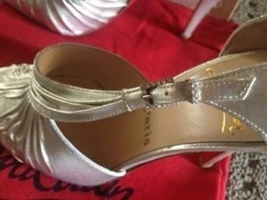Christian Louboutin Bling Metallic Silver Formal