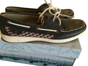 Sperry Blue / plaid Flats