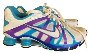 Nike White / purple / teal Flats