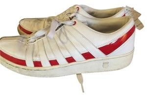 K-Swiss White / red Flats