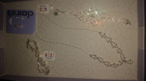 Claire's New Art Deco Pearl And Rhinestone Bridal Jewelry Set