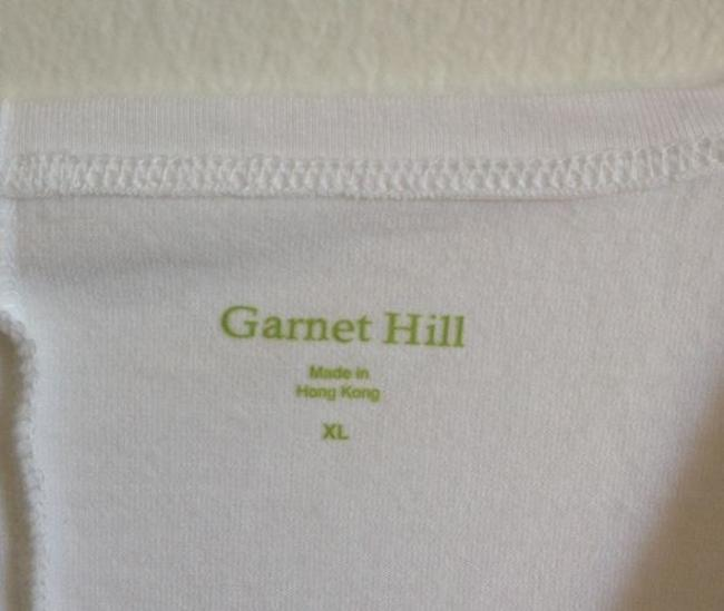 Garnet Hill V-neck T Shirt White
