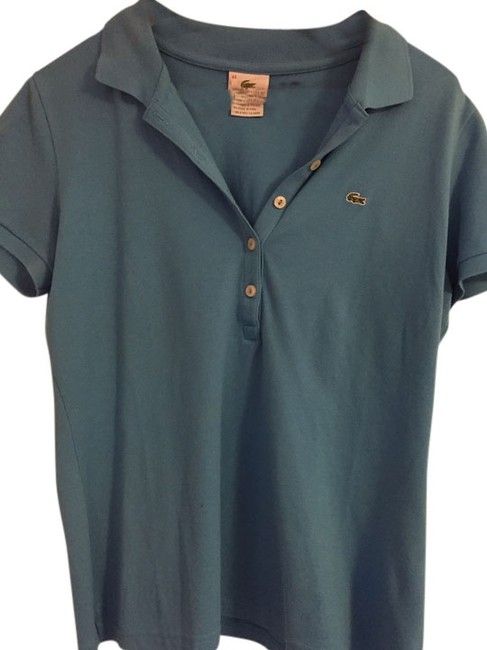 Lacoste 5 button polo Button Down Shirt Turquoise