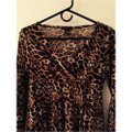 BCBGMAXAZRIA Top Animal Print Image 1