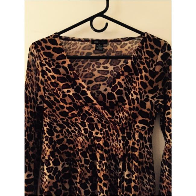 BCBGMAXAZRIA Top Animal Print