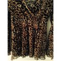 BCBGMAXAZRIA Top Animal Print Image 2