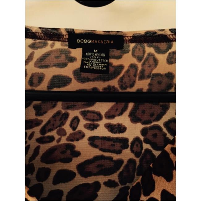 BCBGMAXAZRIA Top Animal Print Image 3