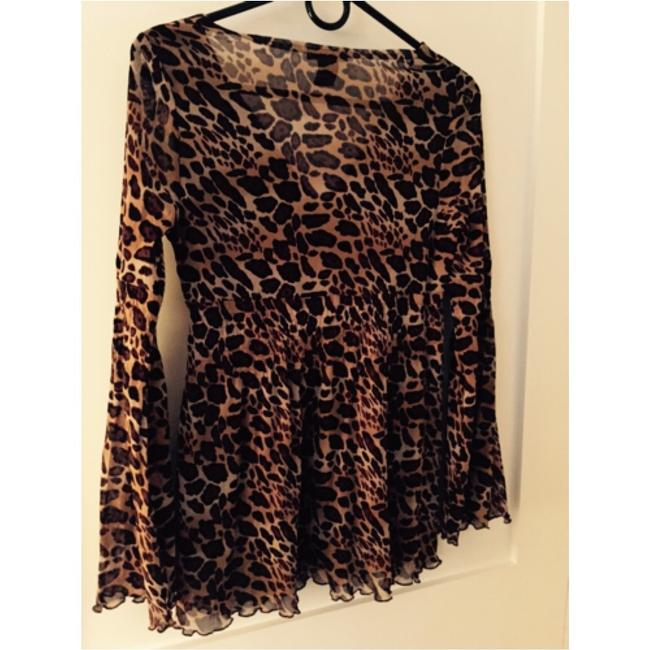 BCBGMAXAZRIA Top Animal Print Image 4
