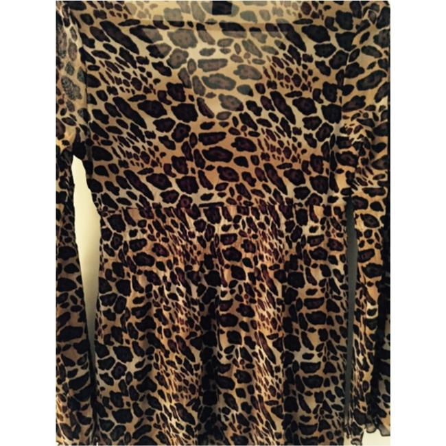 BCBGMAXAZRIA Top Animal Print Image 5