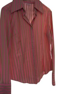 fourtys Womens Top Kiwi pink with green stripes