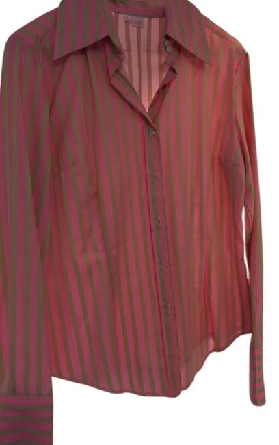 Preload https://item2.tradesy.com/images/fourtys-striped-womens-top-kiwi-pink-with-green-stripes-5885356-0-1.jpg?width=400&height=650