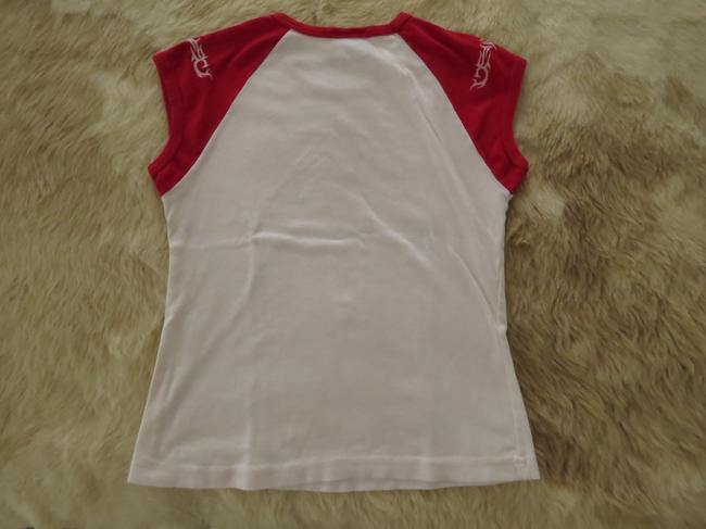 Dragonfly Vintage T Shirt Red & white