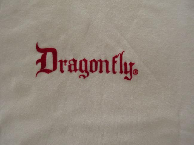 Dragonfly Vintage T Shirt Red & white Image 1