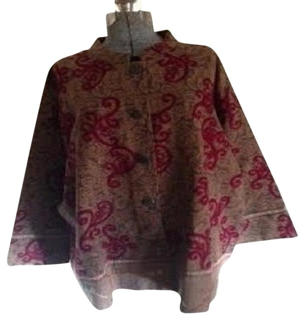 Preload https://item5.tradesy.com/images/brown-and-red-paisleypattern-ponchocape-size-26-plus-3x-5885614-0-0.jpg?width=400&height=650