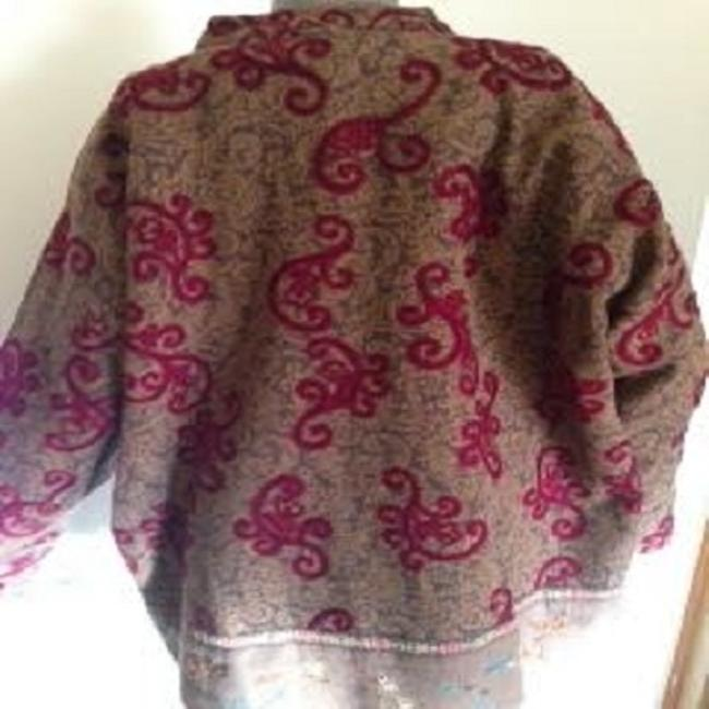 Grand Canyon Paisley Print With Embroidery. Jacket Has An Extra Decorative Button Attached. Cape