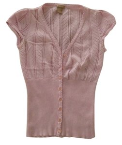 Forever 21 21 Pink Cardi Cap Sleeves Button Down Shirt Baby pink