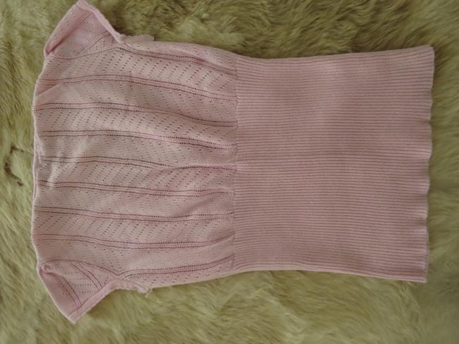 Forever 21 Cardi Cap Sleeves Button Down Shirt Baby pink