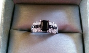 Zales Natural Sapphire & Diamond ring --SOLD