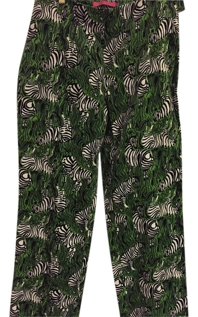 Key West Trouser Pants Green with zebra print