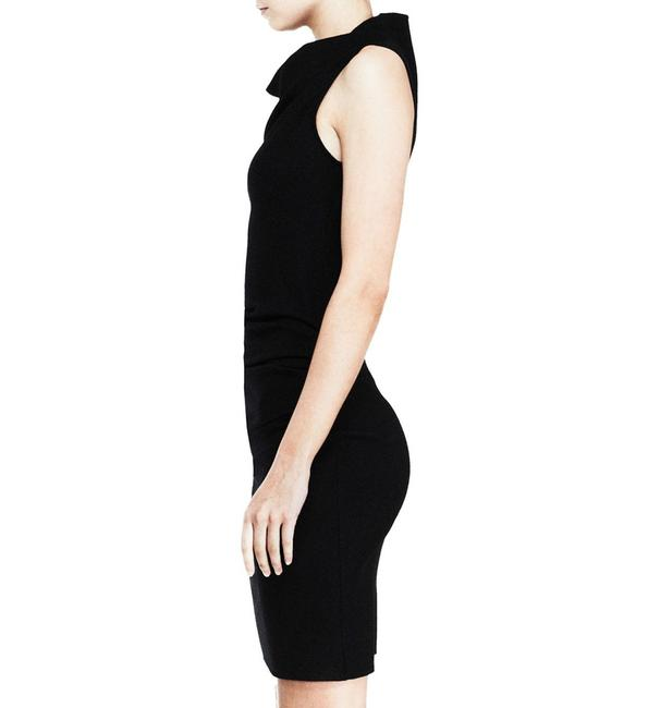 Helmut Lang short dress Black Asymmetric Hem Drape Draped Stretchy Sheath on Tradesy