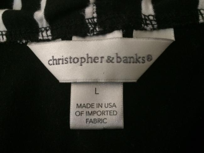 Christopher & Banks Top Black and White
