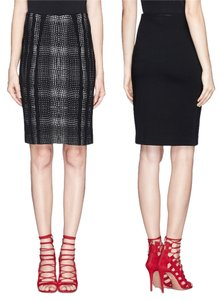 Diane von Furstenberg Pencil Black & White Skirt Black White