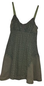 Free People Top Army Green Peasant Tank