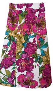 Lane Bryant Mid Length Skirt Floral