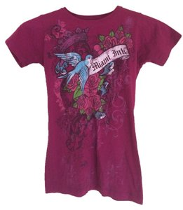 Miami Ink T Shirt Dark pink