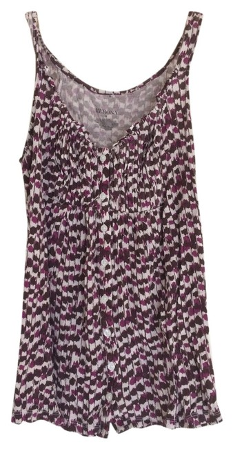 Merona Top Purple, brown, white