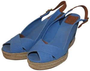 Tory Burch BLUE CANVAS WEDGE, Wedges