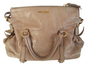 Miu Miu Leather Calfskin Shoulder Bag