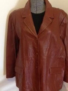 Terry Lewis Brown Leather Jacket