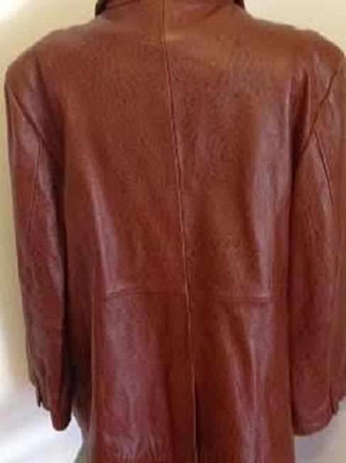 Terry Lewis Classic Luxuries Subtle Animal Print Brown Leather Jacket