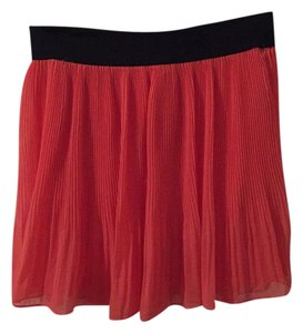 Bar III Mini Skirt Salmon, pink, coral, black