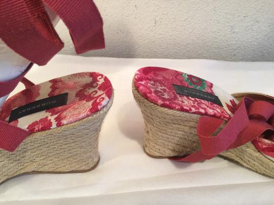 Burberry Red and white Wedges