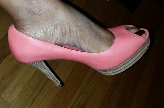Cole Haan Nike Air Pink Leather Salmon Platforms