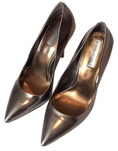 BCBGMAXAZRIA Gunmetal (metallic gray) Pumps