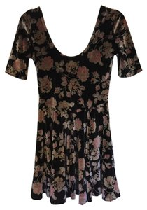 Urban Outfitters Velvet Floral Flowy Dress