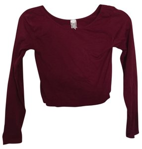 Prime Cut Stretchy Comfortable Crop T Shirt Maroon