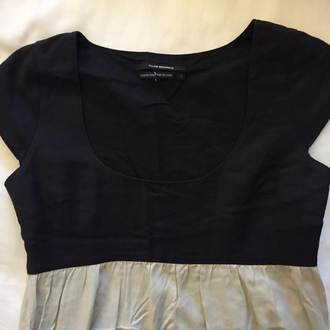 Club Monaco short dress Black and Light khaki on Tradesy