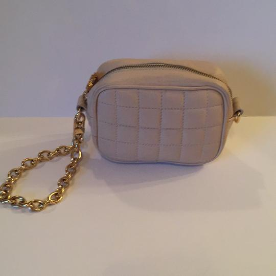 BCBGMAXAZRIA Cream Clutch