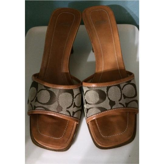 Coach Brown Sandals