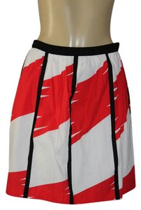 Vince Camuto Mini Skirt red/white