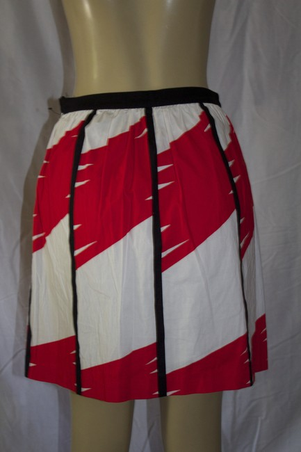 Vince Camuto Mini Skirt red/white Image 2