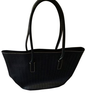 Prada Leather Tote in navy