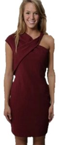 Halston Asymmetrical Twist Dress