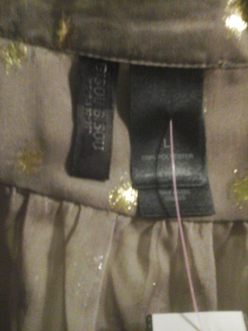 Bisou Bisou Size Large Large New New With Tags Women Cute With Gold Stars Star Gold Gold Stars Top Brown Sheer Fabric
