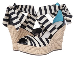 UGG Australia Black and White Wedges