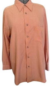 Liz Claiborne Button Down Shirt Peach